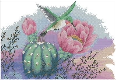 Dimensions 13680 Hummingbird and Cactus
